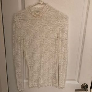 Lace, long sleeve top